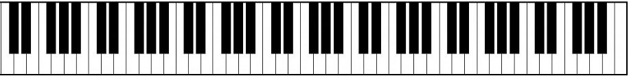 Full piano keyboard
